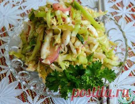 Овощной салат с острой заправкой – кулинарный рецепт