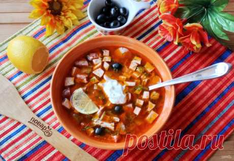 Настоящая солянка - пошаговый рецепт с фото на Повар.ру
