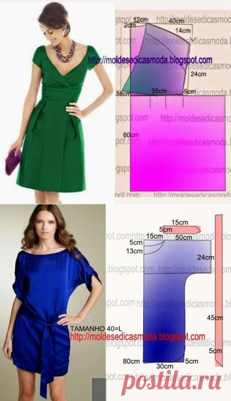 We sew summer dresses. Patterns. Ideas