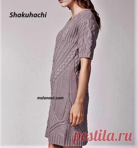 Вязаное платье от Shakuhachi | Вяжем с Лана Ви