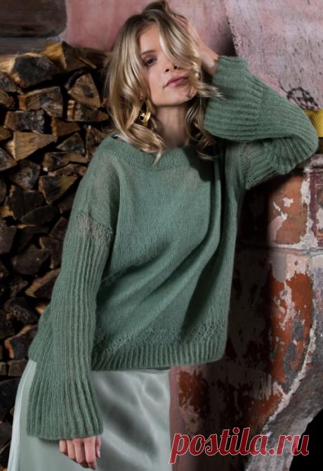 Вязаный пуловер HeathJadegronn | ДОМОСЕДКА