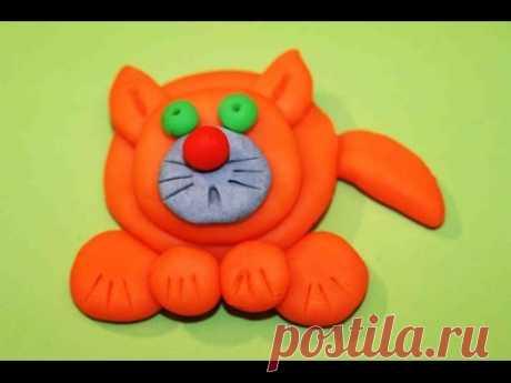 Как лепить из пластилина Плей до кота?