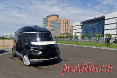 КАМАЗ планирует начать серийный выпуск беспилотного электробуса в 2022 году                     (1 фото) . Чёрт побери