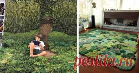 «Лесные» коврики для дома