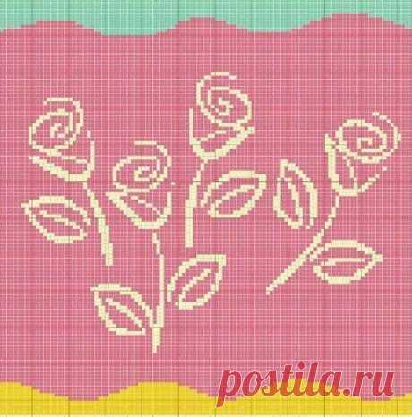 Топ-10 схем для вязания или вышивки шикарных роз   Вязалки Веселого Хомяка   Яндекс Дзен