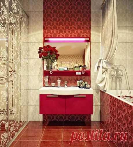 красные ванные комнаты: 7 тыс изображений найдено в Яндекс.Картинках