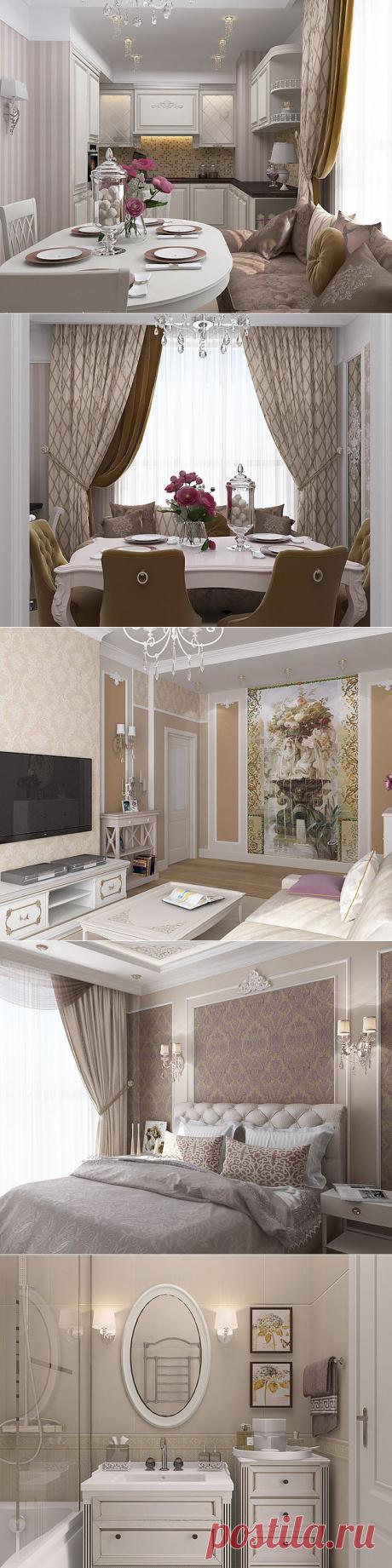 El proyecto del apartamento para el descanso — el Lujo y el conforte