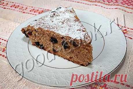 Пирог на чайной заварке - получается высоким и пористым.