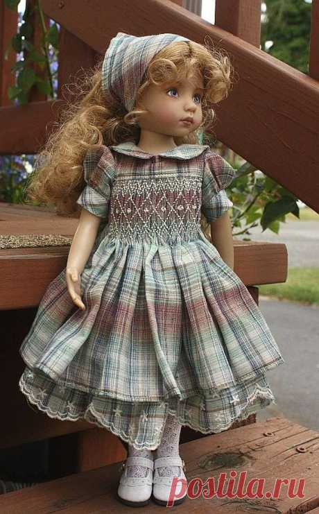 "(3) Details about Beautiful smocked outfit for 13"" Dianna Effner Little Darling dolls"