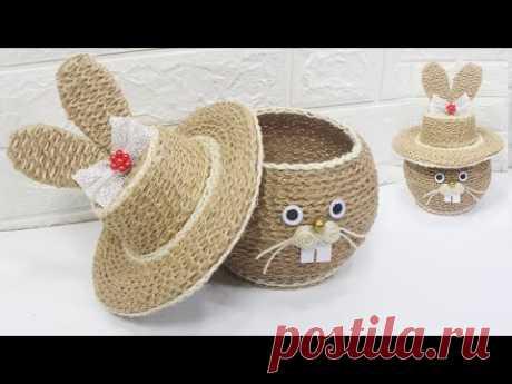 5 Jute craft ideas | Home decorating ideas handmade #7