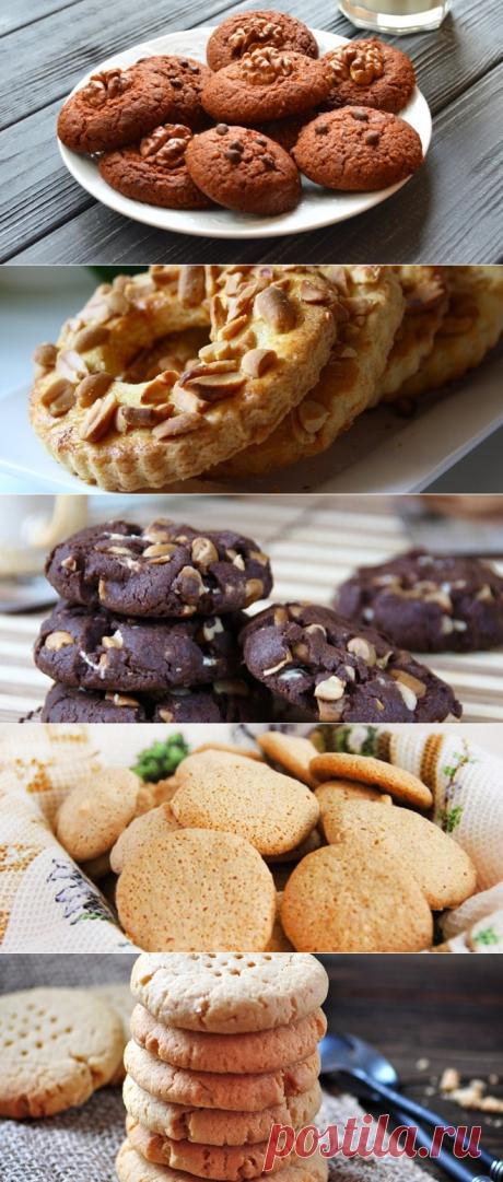 Ореховое печенье - рецепты песочного, шоколадного, овсяного печенья с орехами.