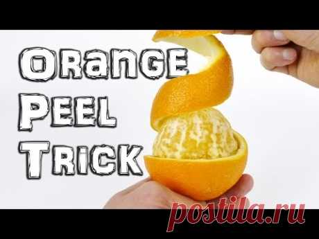 Как быстро и удобно почистить апельсин | Делимся советами
