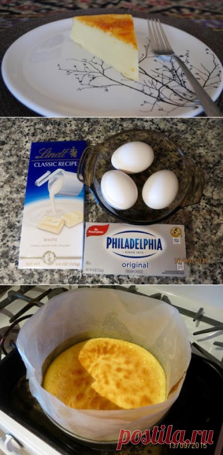 """Невыразимая легкость кулинарного бытия...: Японский """"ватный чизкейк"""" из трех ингредиентов"""