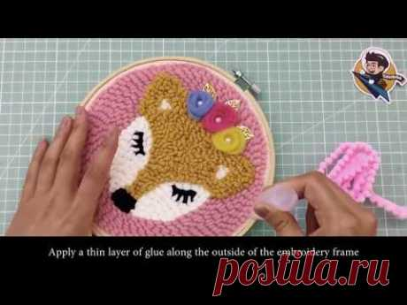 How to DIY Rug Hooking Punch Needle Embroidery Hand Craft
