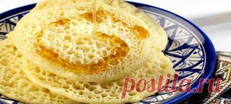 Ажурные «Марокканские блинчики» на завтрак. Без яиц и молока | Самые вкусные кулинарные рецепты