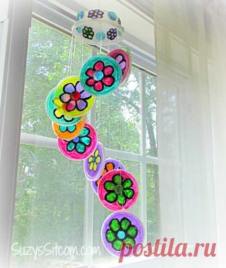Bastante DIY Flor Suncatcher-un proyecto de Primavera de la diversión!