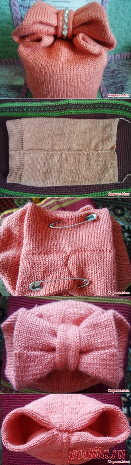 Шапка-бантик. (Мой бесплатный МК) - Машинное вязание - Страна Мам