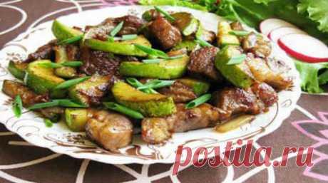Очень вкусная свинина с кабачками — быстро и просто!