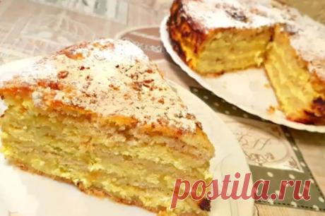 Творожный пирог – просто чудо.   Кулинарные рецепты   Яндекс Дзен