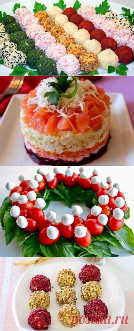 Вот как нужно подавать салаты на новогодний стол