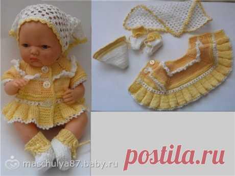 Вязание, рукоделие. вязание для кукол пупсов с описанием Вязание крючком и спицами.