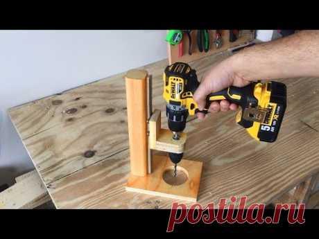Making a Mobile Drill Press (Drill Guide) - El Yapımı Matkap Kılavuzu