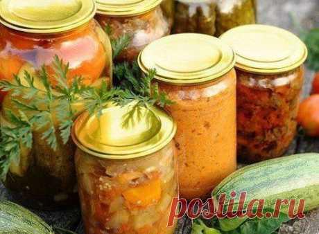 Заготовки: Подборка рецептов овощных салатов.