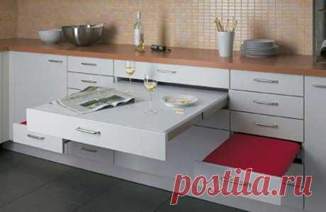 Маленькая, да удаленькая! Умные решения для организации пространства кухни-крохи – Журнал – His.ua