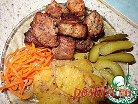 Мясо в гранатовом соке - кулинарный рецепт