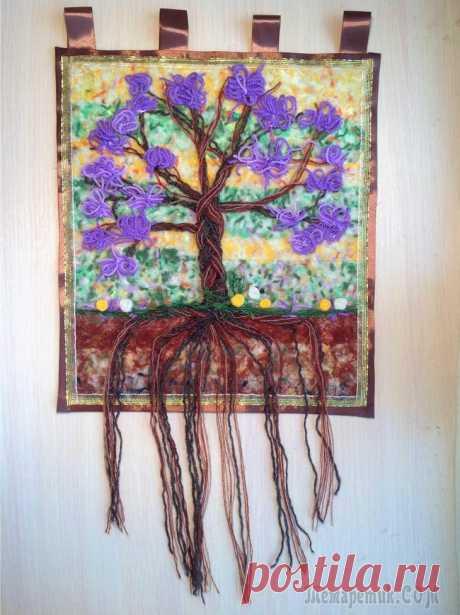 """Мастер-класс 5 ленивый гобелен """"Дерево с сиреневыми цветами"""" В этом мастер-классе я покажу, как сделать ленивый гобелен """"Дерево с сиреневыми цветами"""". Ленивый гобелен - мой оригинальный вид творчества, объединяющего в себе многие уже известные приёмы, но совер..."""