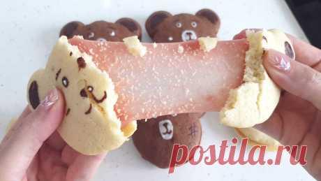 Печенье-Тянучка с маршмеллоу ✔️ Рецепт песочного печенья