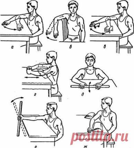 Гимнастика локтевого сустава: лечебный комплекс упражнений Бубновского для разработки сустава локтя