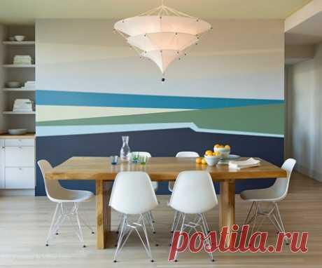 Покраска стен в два цвета - 50 фото идей - - Копилка больших идей