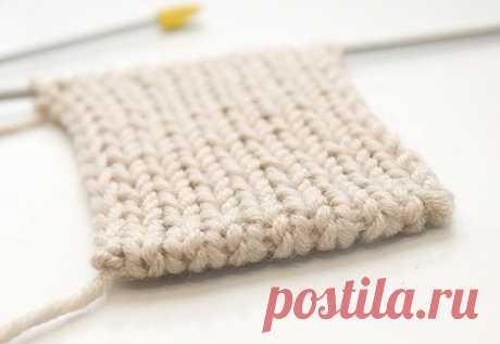 Dense edge in knitting
