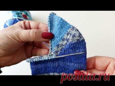 Die runde Bumerangferse für Toe Up und Top Down Socken