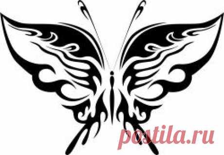Трафареты бабочек для вырезания из бумаги. Распечатать шаблоны с бабочками