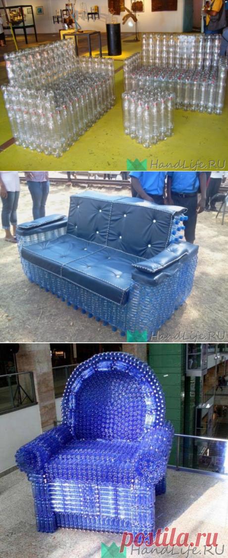 Мебель из пластиковых бутылок / Мое творчество - банки и бутылки
