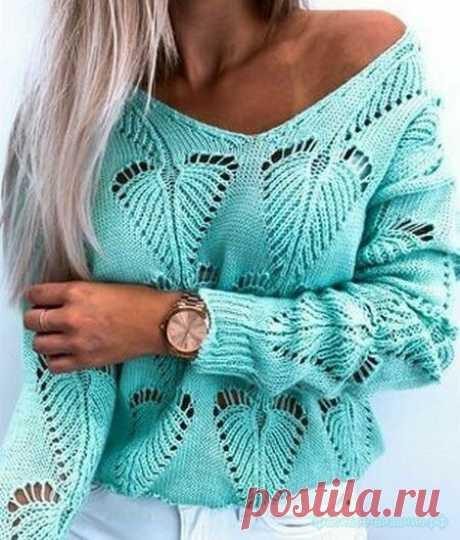 Кофточка спицами — Красивое вязание