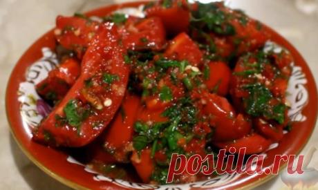 """¡Los tomates en coreano - simplemente ob'edene! ¡Preparen obligatoriamente! Pongan """"Класс!"""" ¡y la receta se conservará en su página!"""