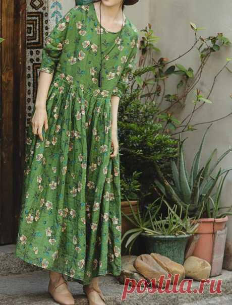 Linen green Maxi dress Women long Dress Flare Dress   Etsy