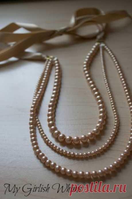 Нежное ожерелье (фото-МК) — Делаем руками