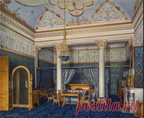 Bedchamber of Empress Alexandra Fyodorovna, Winter Palace, St. Petersburg | Russian Imperial Palaces