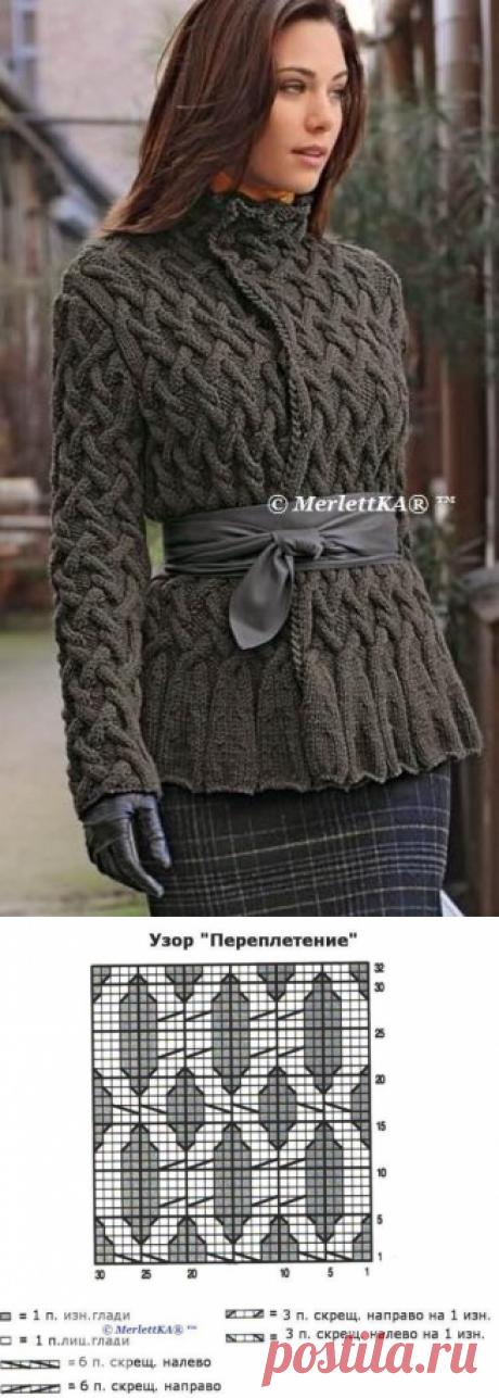 Вязание спицами - жакет - куртка