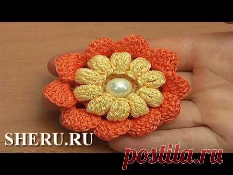 Las flores por el gancho … de palomitas   razpetelka.ru