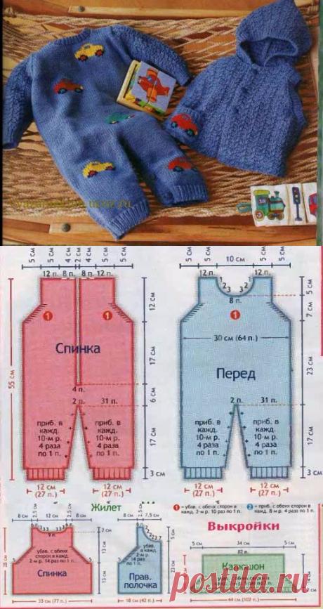 Комбинезон и жакет для детей 6 - 9 месяцев - Для детей до года - Каталог файлов - Вязание для детей