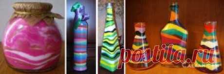 Декоративные бутылки с цветным песком — Рукоделие