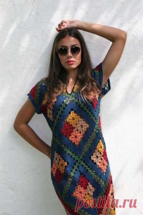Vestidos Curtos de Crochê -Inspiração – Meu Mundo de Crochê