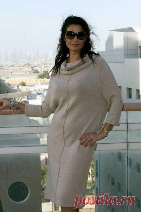 Платье-свитер для женщин 50+. Стильные образы на осень | Мне 40 | Яндекс Дзен
