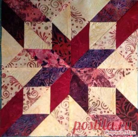 Block — a Lesson joint project, Lesson No. 19, River Jordan - Scrappy Sewing - the Country of Mothers