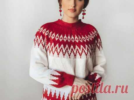 Мастер-класс: Вяжем свитер Ruby с узором Лопапейса | Журнал Ярмарки Мастеров